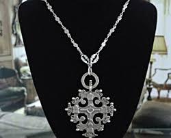 antique cross necklaces