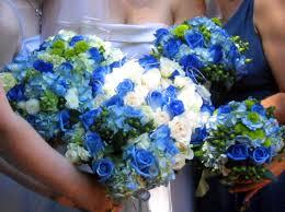 blue flowers bouquets