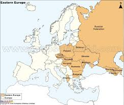 outline map of eastern europe
