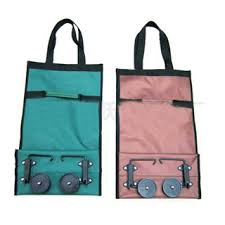 shopping bags on wheels