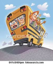 drawing of a school bus