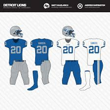 detroit lions uniforms