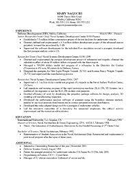 free example of resume