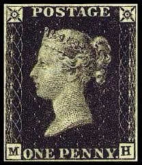 penny black postage stamps