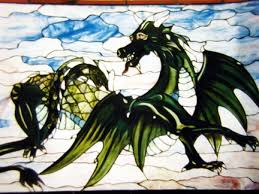 dragon stained glass