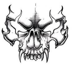 drawings of a skull