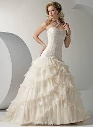 ruffle wedding dress