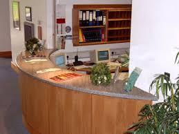 circular reception desks