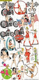 pinup tattoo flash