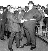 fat man in suit