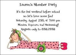 free slumber party invitations