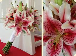 stargazer lilies wedding bouquets