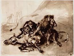 horse lion