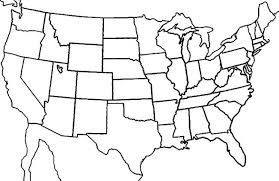 blank map of southeast united states