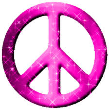 hot pink peace signs