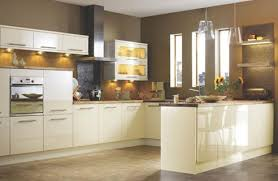 cream gloss kitchens