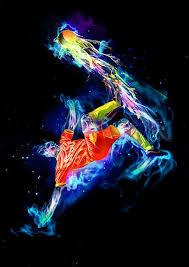 soccer art work