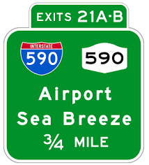 interstate exit signs