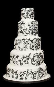 black and white cake design