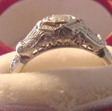 filigree diamond engagement ring