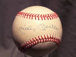 mickey mantle signed picture
