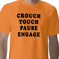 crouch touch pause engage t shirt