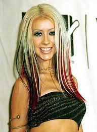 blonde and red streaks