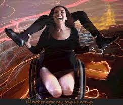 her wheel chair