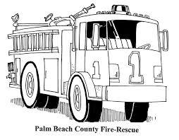 fire truck coloring sheet
