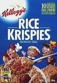 rice krispie cereal
