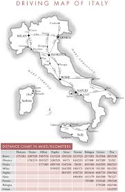 driving map of italy