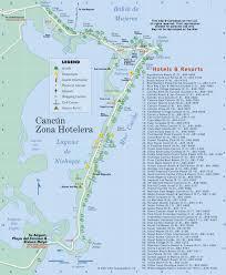 maps of cancun