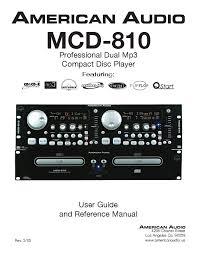 american audio mcd 810