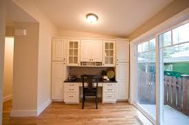 built in desk in kitchen