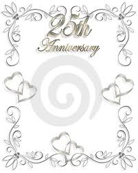 25th anniversary invitation