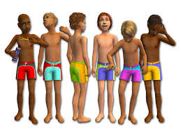 boys in swimsuits