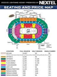 st pete times forum seating chart
