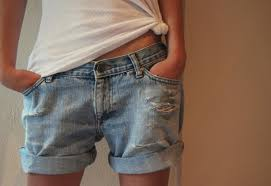 baggy denim shorts