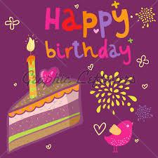 cartoon pictures of birthday cakes