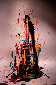 painting on guitar