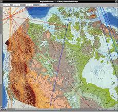 canada topographic map