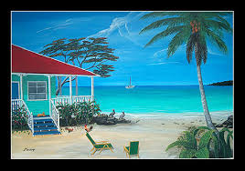 beach house paintings