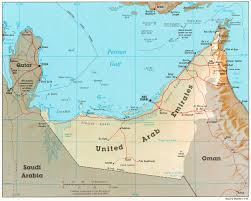 map of united arab emirate