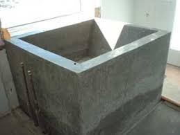 concrete bathtubs