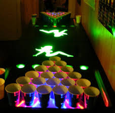 glow in the dark beer pong table