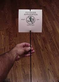 pesticide warning signs