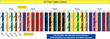 25 pair color code
