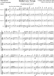 flute music sheets