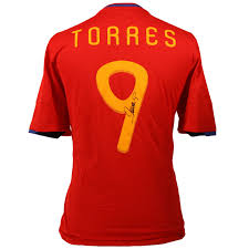 fernando torres spain shirt