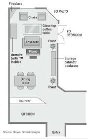long living room furniture placement